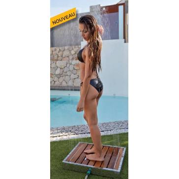Receveur de douche pour jardin, piscine