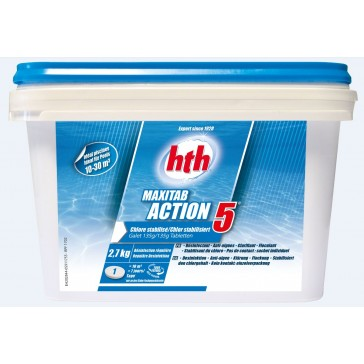 MAXITAB ACTION 5 - CHLORE STABILISE DESINFECTION REGULIERE - IDEAL PISCINES HORS SOL
